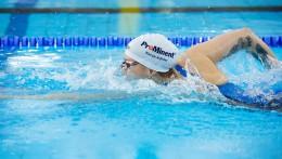 ProMinent 的赞助活动在世界各地都能看到 - Sarah Köhlers 的运动服和泳帽上。